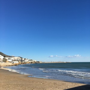 Stranden. Sant Sebastia.