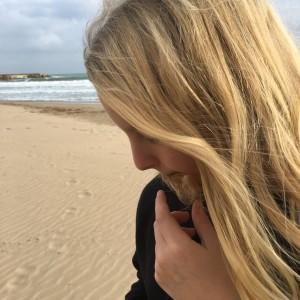 Moltas på stranden