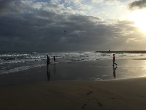 Kidsen på stranden